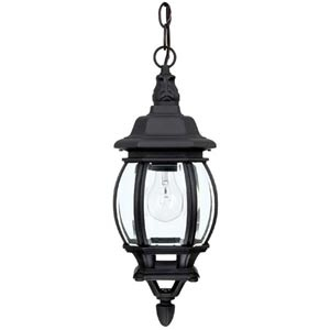 Capital Lighting Fixture Company French Country Black One Light Hanging Outdoor Lantern 9868bk