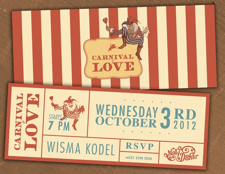 """""""Carnival of Love"""" - @ Cork & Screw Wisma Kodel, Wed Oct 3rd '12 starts from 7pm with 'Molly Dooker' For RSVP call to +6221 5290 2030"""