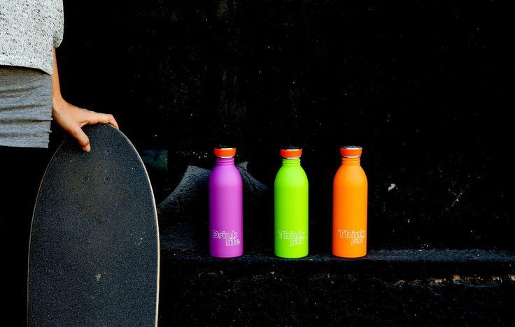 Urban bottles, fluo colors http://www.detailsdesignstore.it/it/urban-bottle/