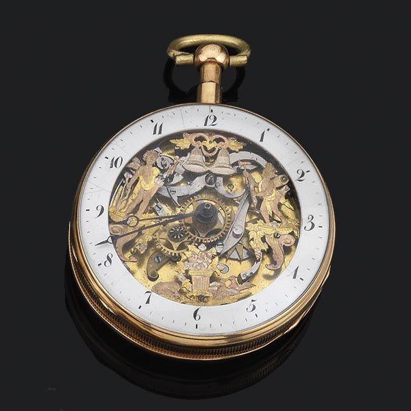 Reloj autómata repetición - Subastas Segre