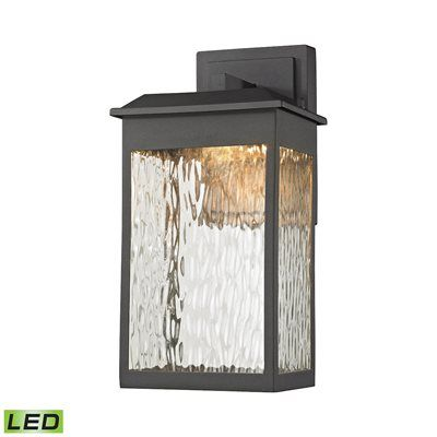 Newcastle LED Outdoor Wall Sconce In Matte Black