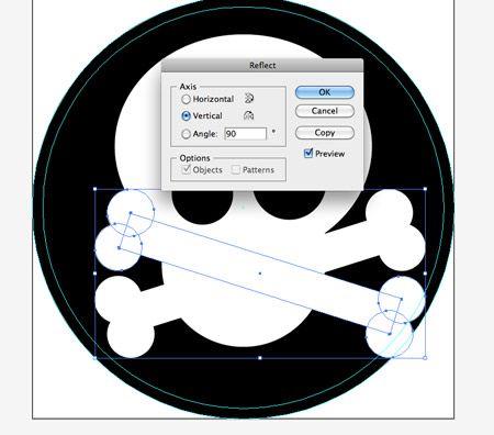 Create a Skull & Crossbones Sticker Design in Illustrator #tutorial #illustrator