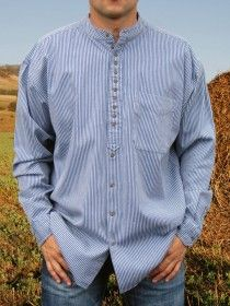 Traditional Grandfather Shirt SW889 Blue