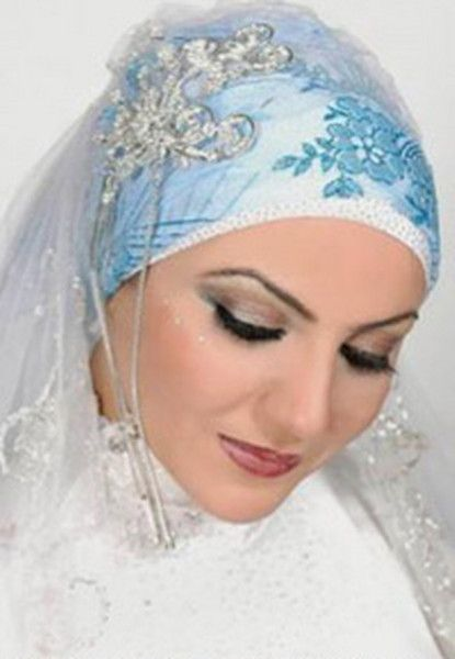 Beautiful Muslim Women | Beautiful wedding wear jilbab for beautiful muslim girls