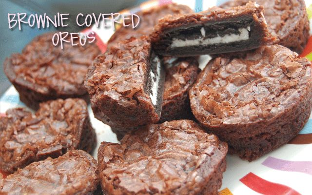 "Brownie covered oreos....call them ""cow patties"" for party"