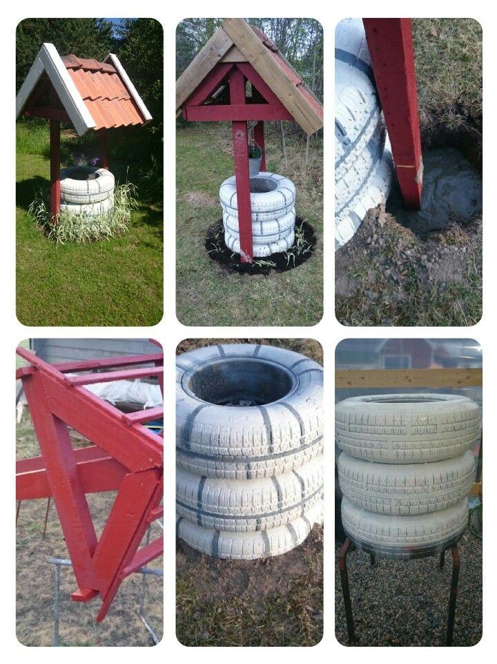Dekorationsbrunn av däck