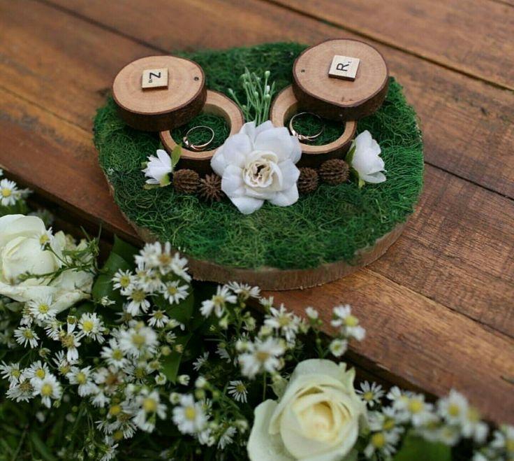 Shabby chic ring bearer #shabbychic #woodenringbearer