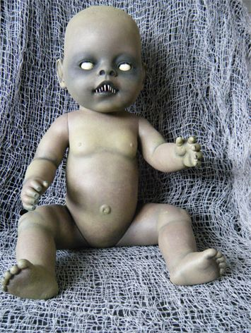 I'm totally making this to add to my halloween dolls I made! creepy zombie baby