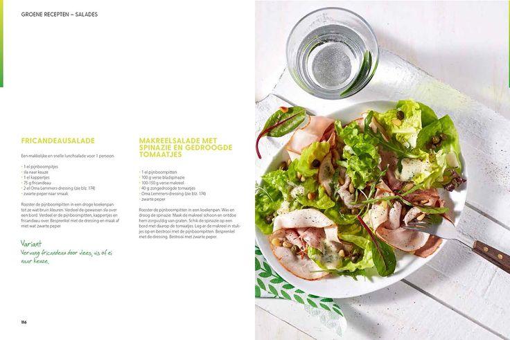 Het recept voor deze fricandeausalade komt uit het boek Grip op koolhydraten van Yvonne Lemmers. Ook lekker met ander vlees, vis of ei naar keuze.