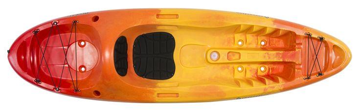 Perception Kayak Access Sunset Kayak, Red/Yellow, Size 9.5