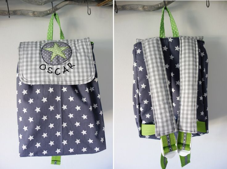 Rucksäcke - Kinderrucksack mit Namen, Mustermix Stern - ein Designerstück von byFlorine bei DaWanda