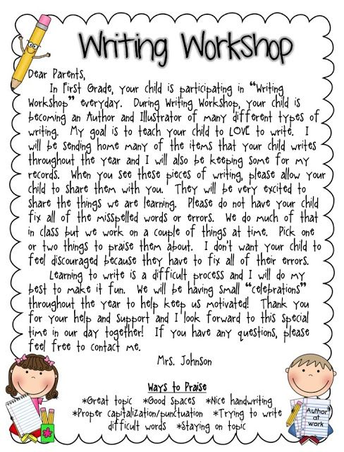 Editable Letter to send to Parents.  Introducing Narrative Writing- The Ultimate Writing Workshop