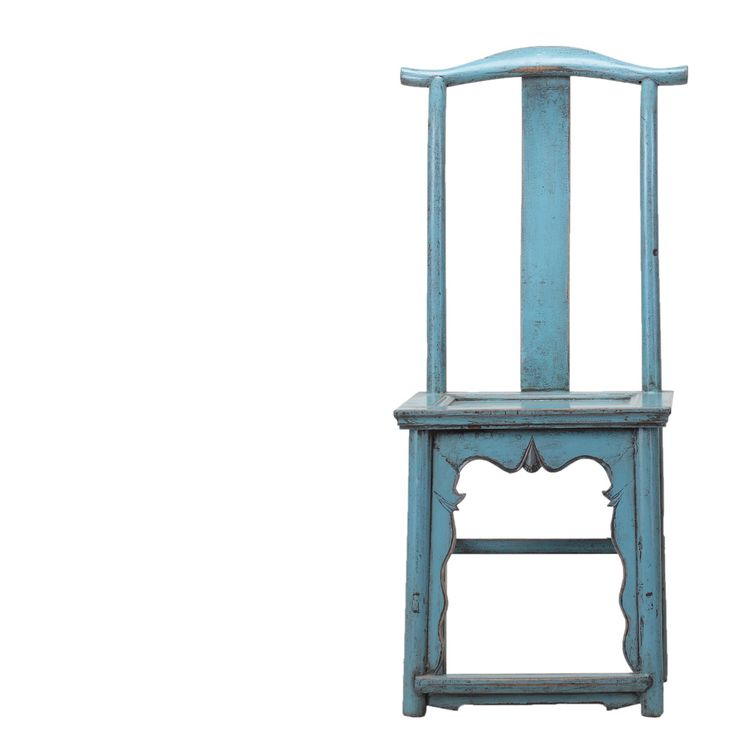 Blue Antique Chinese Chair c.1890