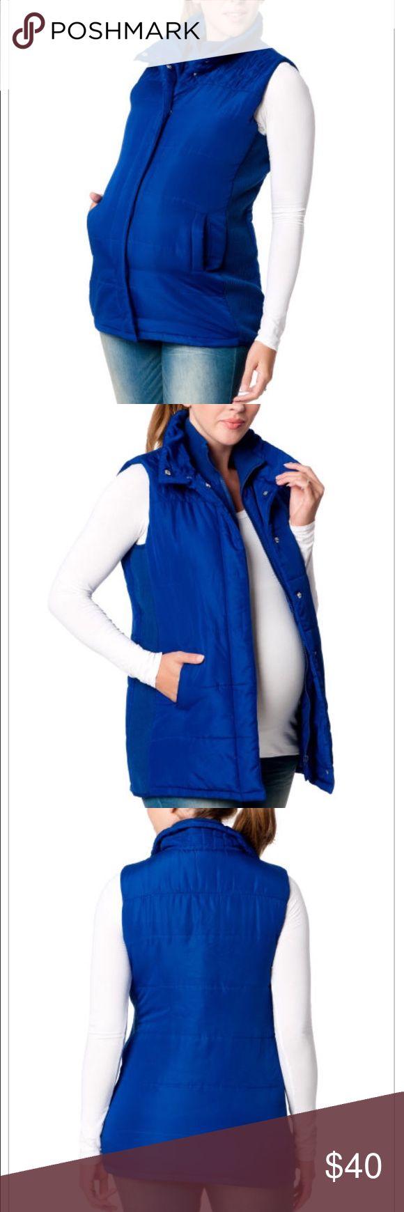 Maternity Vest. NEVER BEEN WORN. Electric Blue Maternity Vest Size Small. Fits like a medium. Motherhood Maternity Jackets & Coats Vests