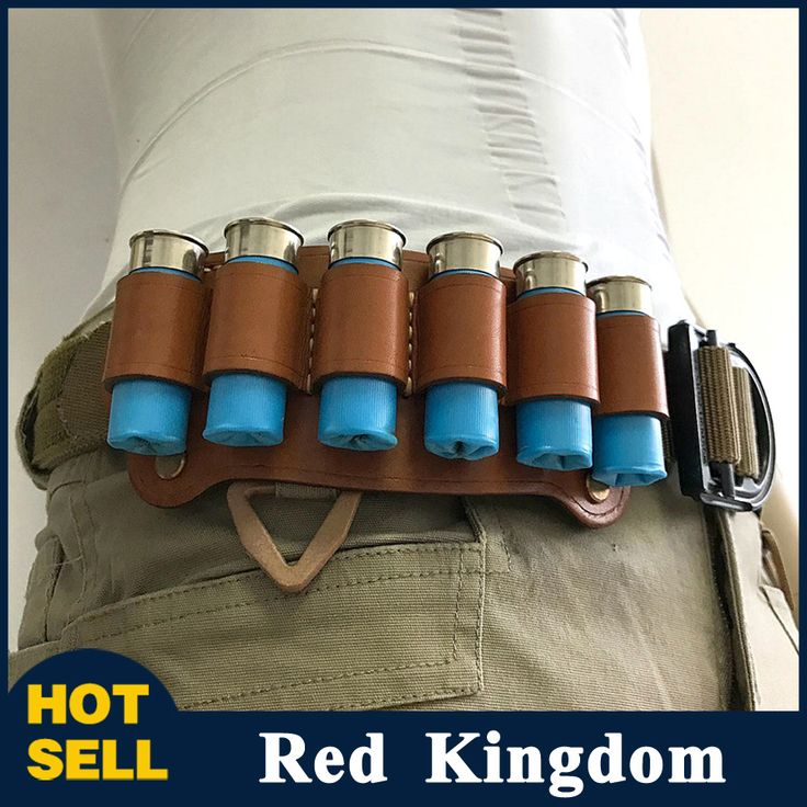 """Shotgun Shell Holder 12G Holder Loop 6 Cartridge Tactical Pouch Airsoft Pistol Fit 2"""" Wide Belt of Hunting Gun Accessory #Affiliate"""