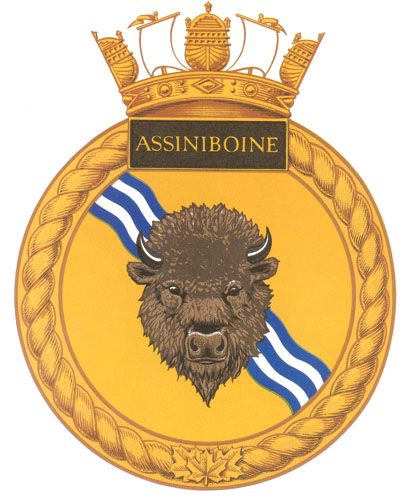 Image detail for -HMCS ASSINIBOINE Badge - The Canadian Navy - ReadyAyeReady.com