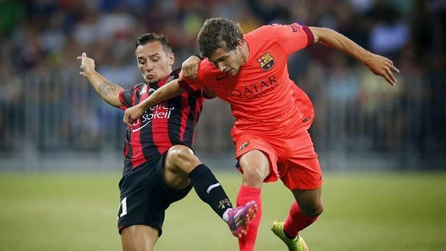Barcelona Stars : Barcelona draw with Nice with the first appearance...