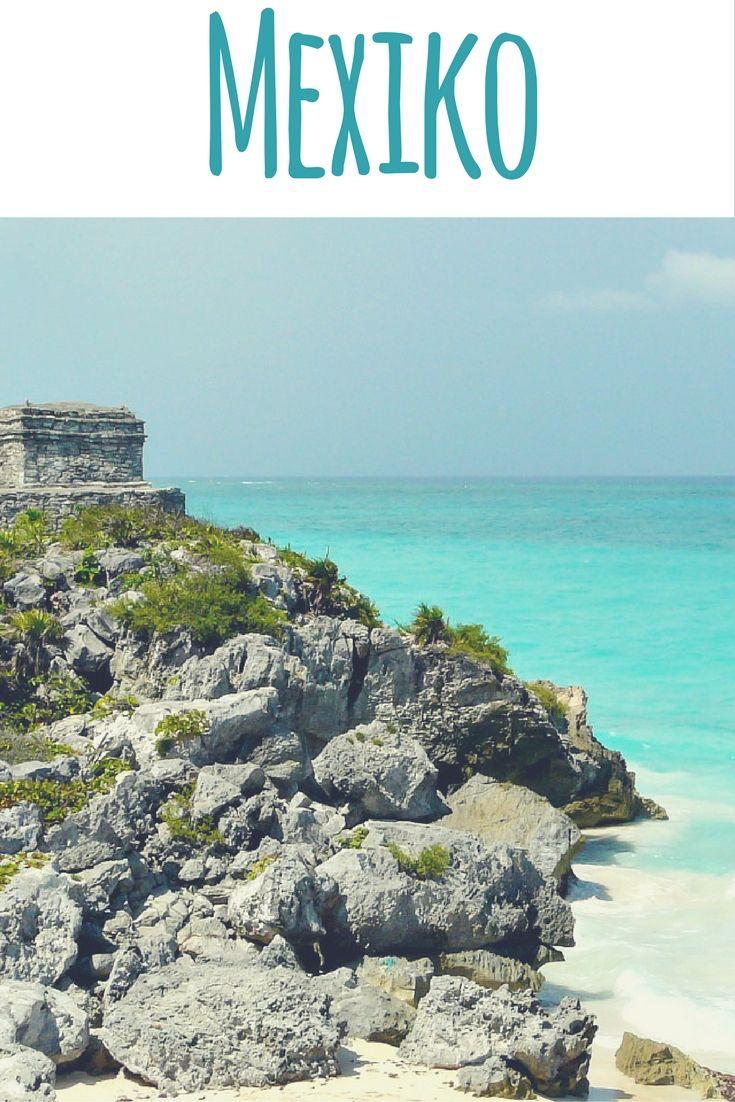 Strand, Meer & Maya Ruine in Tulum, Mexiko / Artikel auf meinem Reiseblog: Yucatan - Geheimtipps einer Einheimischen