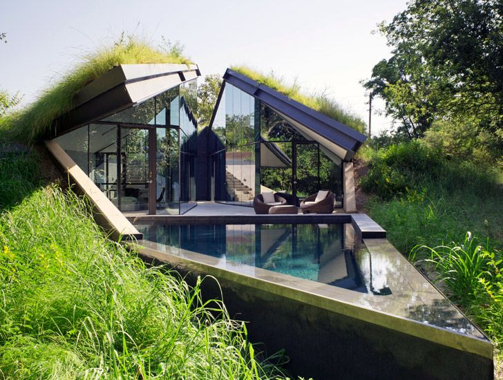 Captivating Modeled After A Native American Pit House, Which Is Sunken Into The Earth  To Maintain Thermal Comfort Throughout The Year, The Edgeland House By  U201cGreen ... Design