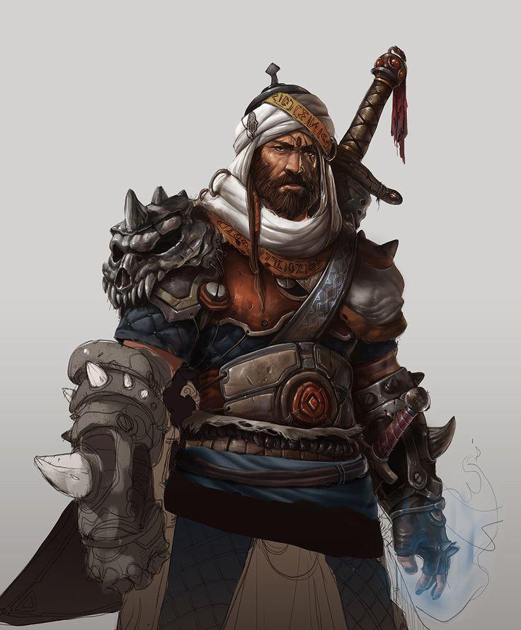 The Arabian knight, Hicham Habchi on ArtStation at https://www.artstation.com/artwork/EYoKv