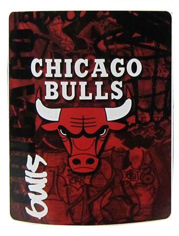"NBA Chicago Bulls Team Color Print Soft Fleece Throw Blanket 50""""x60"""""