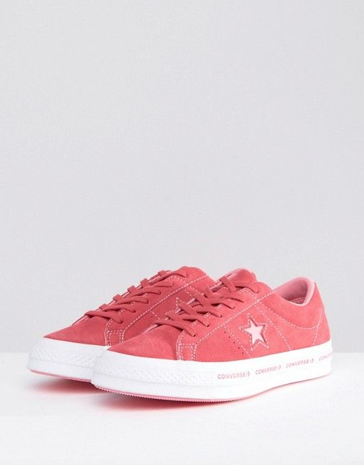 a4d1e54ddd5 Converse One Star Ox Sneakers In Pink Suede