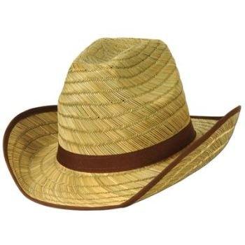 Genuine Adult Cowboy Hat w/Brown Trim & Band 1/Pkg $4.99