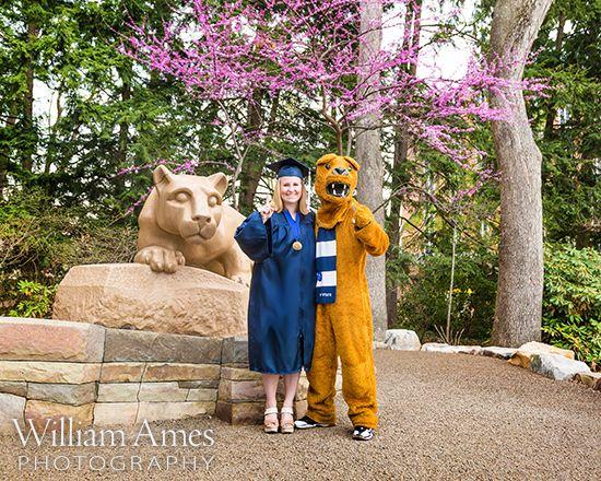 cool senior picture ideas pinterest - Penn State Nittany Lion Mascot Graduation Portrait