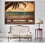 TROPICAL BEACH AT DUSK PRINTED PICTURE PHOTO ROLLER BLIND