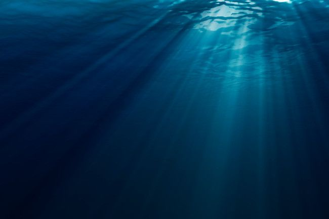Underwater Sunshine Background Material In 2019 Ocean