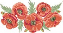 """Дизайн машинной вышивки крестом """"МАК"""" Создан в программе pattern maker Размер 240 X140 MM  #машиннаявышивка #машинная_вышивка #вышивкакрестом #вышивка_крестом #дизайн #маки"""