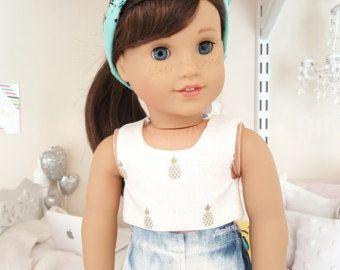 18-Zoll-Puppe Spitze bauchfreies top von SewCuteForever auf Etsy