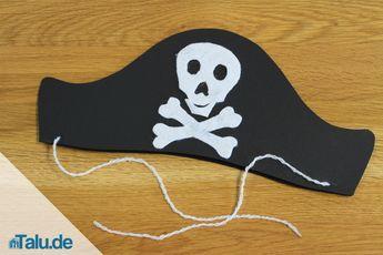 Fasching oder die nächste Kostümparty stehen vor der Tür? Mit einer Vorlage den passenden Piratenhut einfach selbst basteln - so wird´s gemacht.