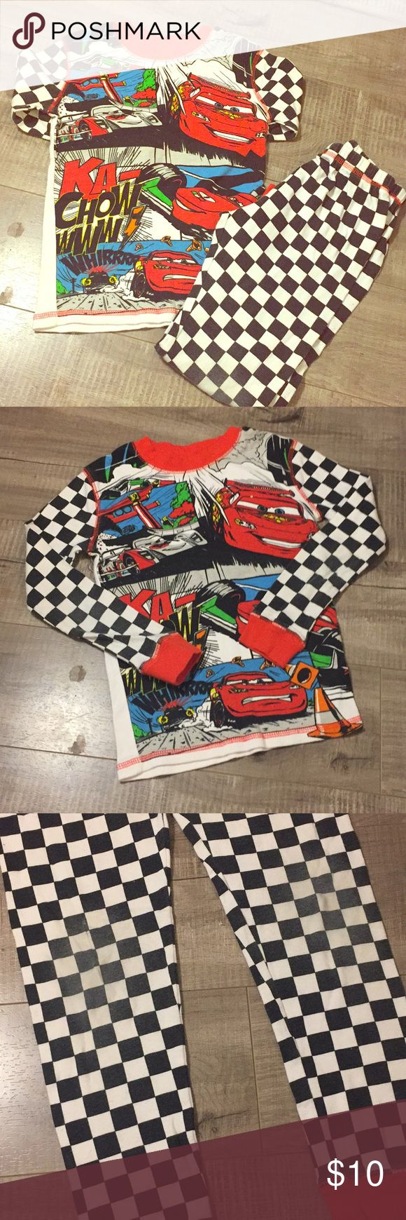 Disney Cars Boys Pajamas Disney Cars Boys Pajama Set Size 8 No Stains, some wash wear & fading The knees of the pants show the most wear and fade.   Fast Shipping!⚡️✨✨✨ Disney Pajamas Pajama Sets