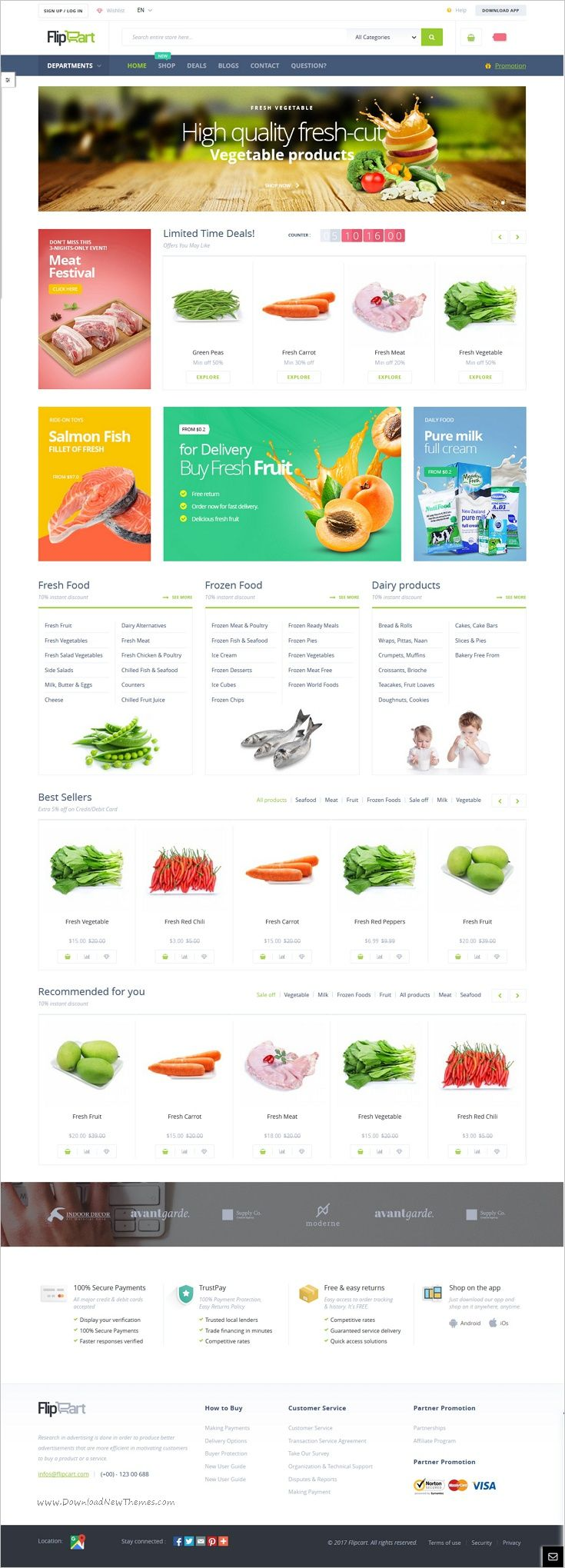 Flipcart is a modern and elegant design #Magento theme for #organic #food #vegetable #shop stunning eCommerce website with 3 unique homepage layouts download now➩  https://themeforest.net/item/flipcart-magento-2-multi-purpose-theme/18760136?ref=Datasata