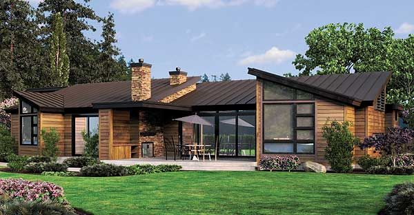 Plan 69402AM Single Story Contemporary House