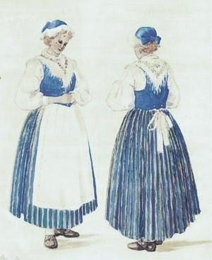 Yksi Suomen suosituimmista kansallispuvuista on Munsalan puku, joka sini-valkoisena tunnetaan oikeana Suomi-neidon tai Eloveenan pukuna.