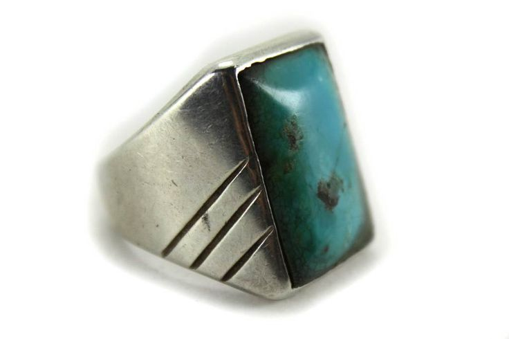Turquoise Genuine Sterling Silver Navajo Ring