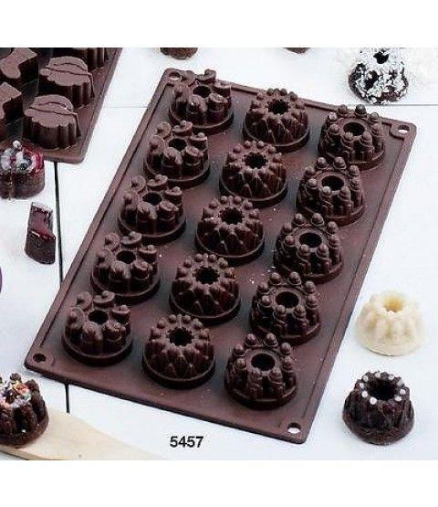 Backform Mini Gugelhupf Silikon Pralinen Schokolade Kerze Muffin Pudding Form  - 2-flowerpower