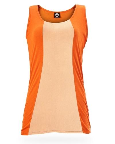Orange Vest Mesh Panel $47