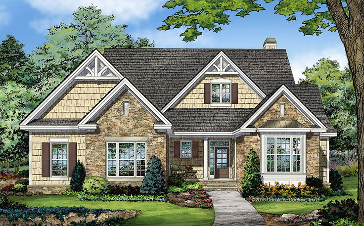New Home Plan – The Tucker 1341 is a modest floor plan with open living spaces! Visit our house plans blog for more details!