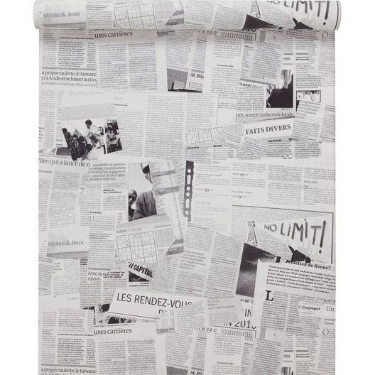 Papier peint sur papier concept noir larg m papier peint wc pinterest papier peint - Leroy merlin paillasson ...