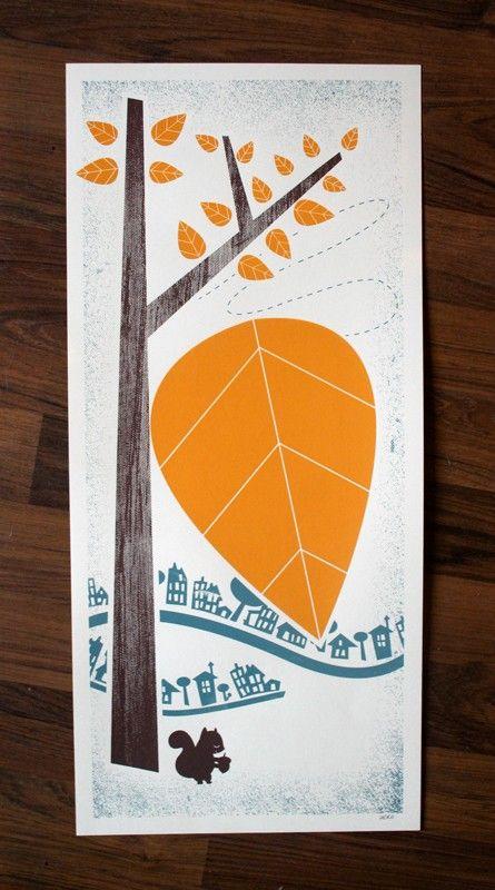 """Autumn"" Art Print Silkscreen by Hero Design Studio #screenprinting"