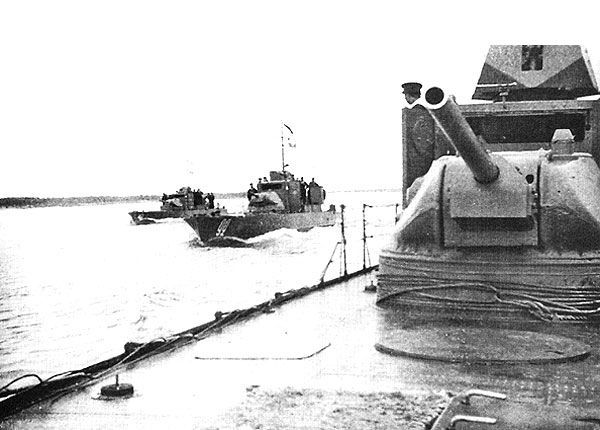 Soviet armored boats 1125 project ww2 photo