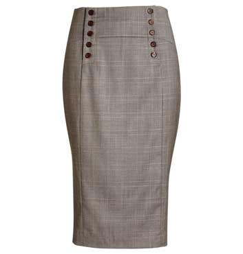 Jigsaw - Soft check wool skirt