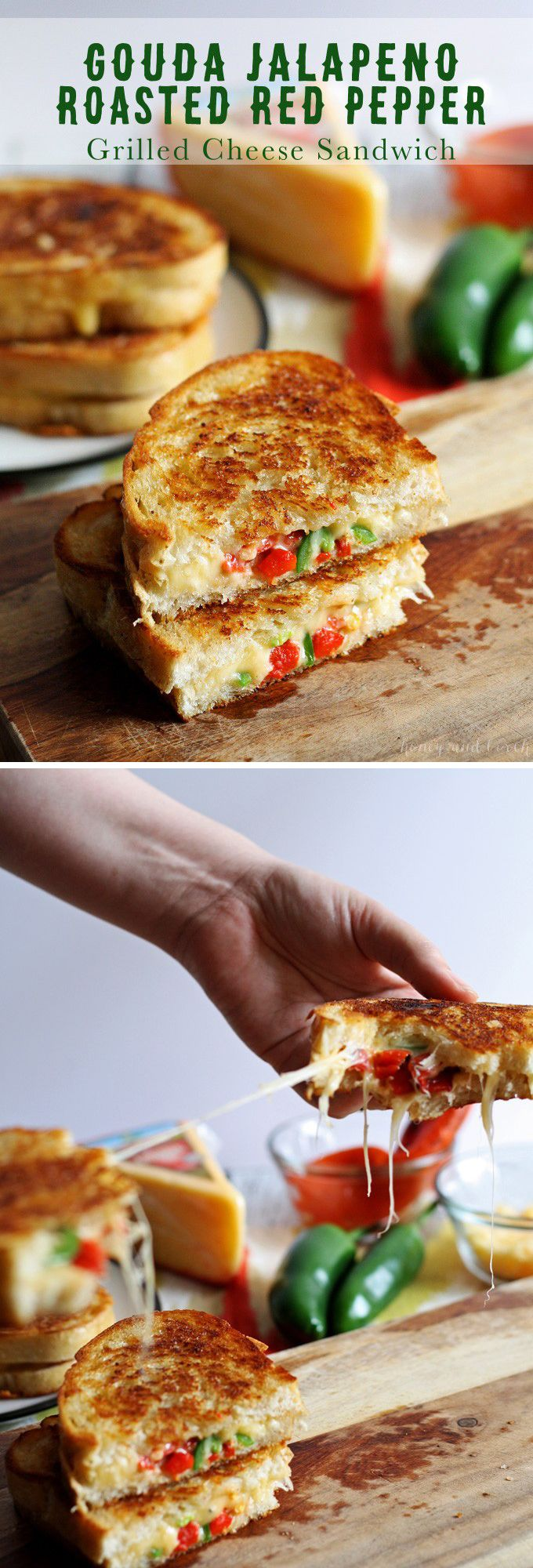 best images about sandwiches burgers more gouda jalapeno roasted red pepper grilled cheese
