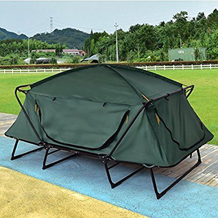 Tangkula 2 Person Tent Cot – Folding & Waterproof  Tangkula 2 Person Tent Cot is a foldable off ground sleeping tool which provides enough space for couples and full protection from elements. #DoubleTentCots, #DoubleCotTents, #TangkulaTentCot