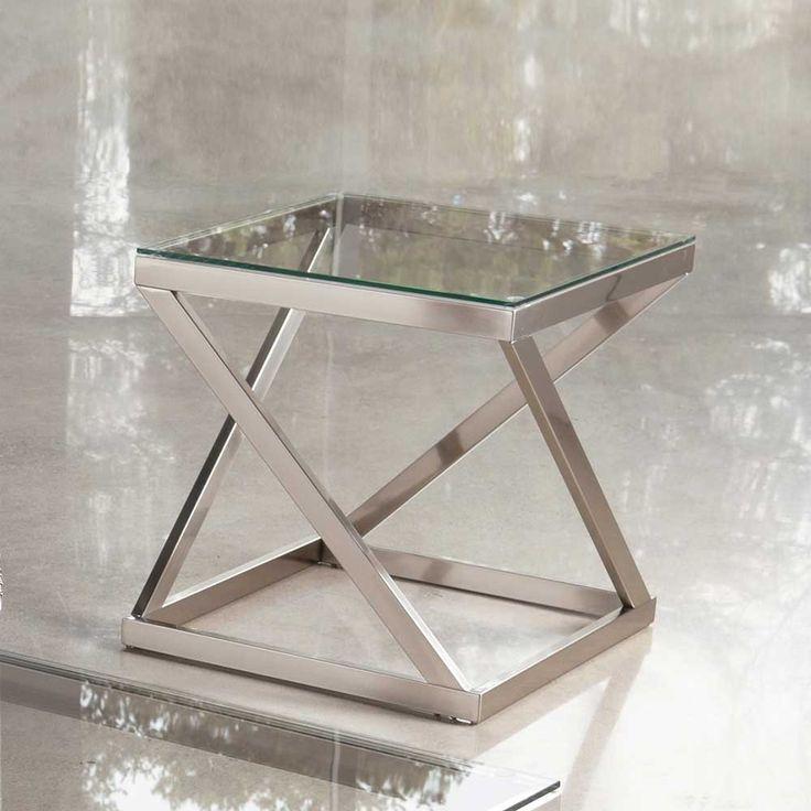 glas beistelltisch aus metall modern jetzt bestellen unter httpsmoebelladendirekt - Glasbeistelltisch