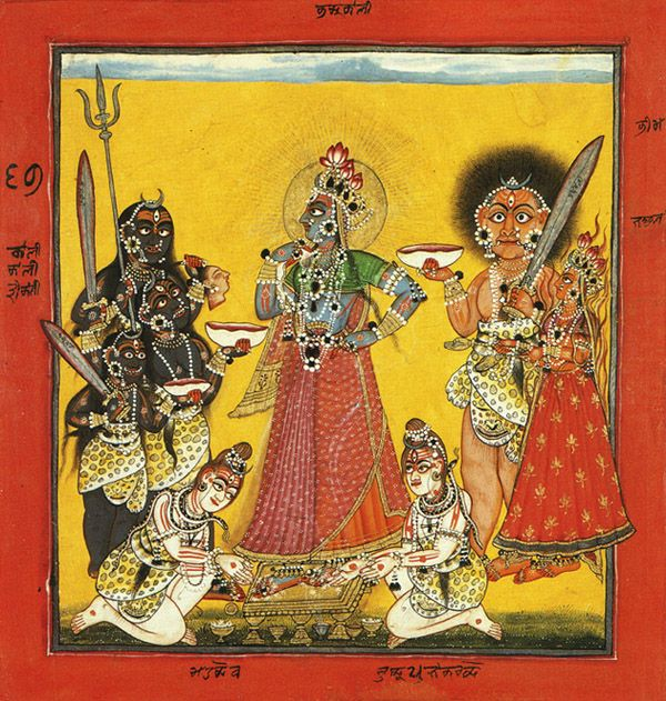 The Worship of the Devi as the Dark Goddess Bhai Bhadrakali 1670