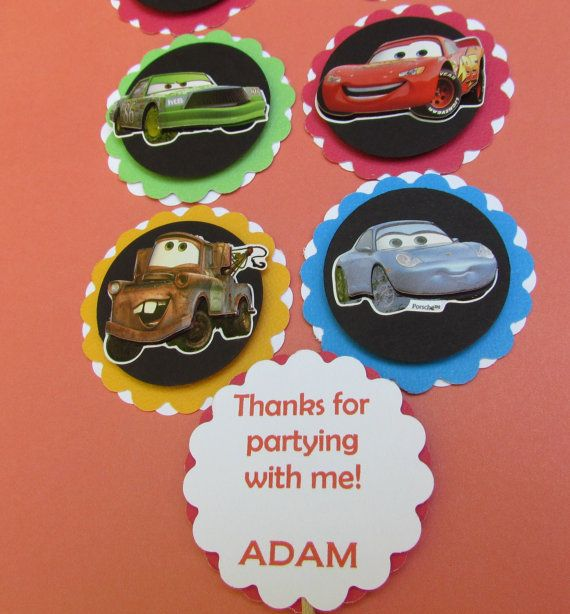 Disney Cars Cupcake Toppers Free Personalize by DesignsbyAliA, $6.99